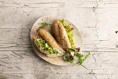 Kaas en Ham met frisse Groentjes