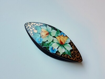 Tatting Shuttle Black Wood Painted