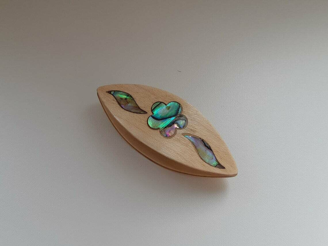 Tatting Shuttle Maple Mother-of-Pearl Flower #2 Inlay