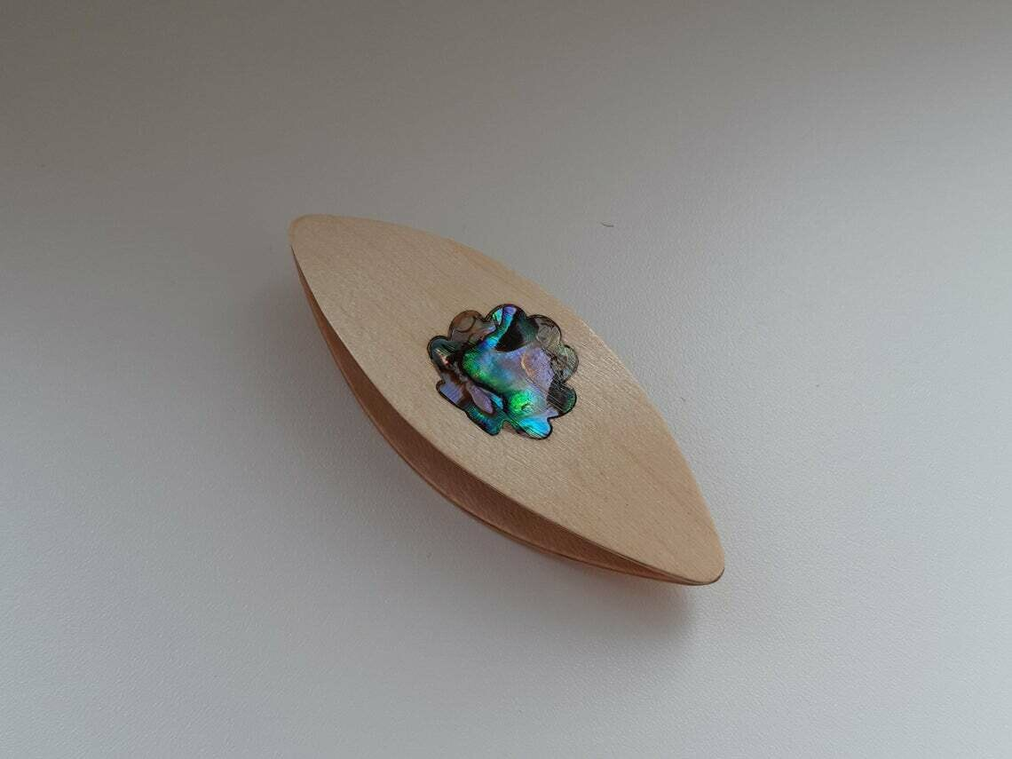 Tatting Shuttle Maple Mother-of-Pearl Shell Inlay