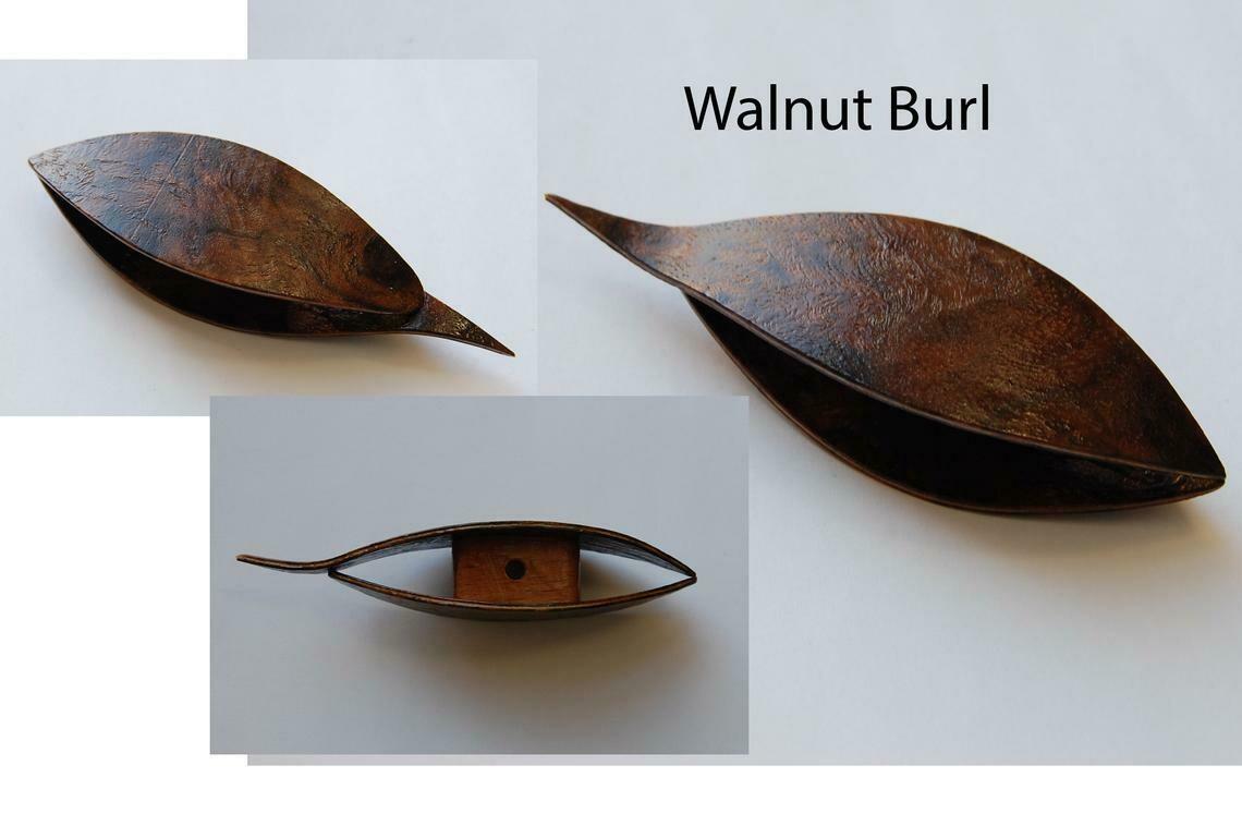 Tatting Shuttle With Pick Walnut Burl