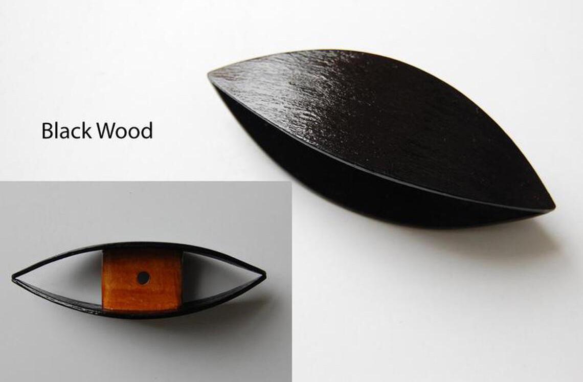 Large Tatting Shuttle Black Wood