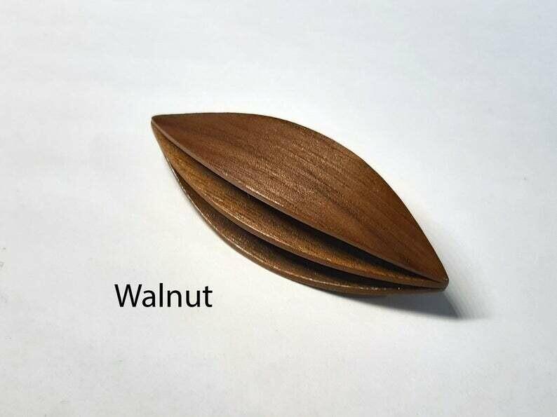 Double Decker Tatting Shuttle Walnut