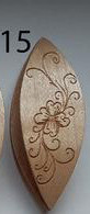 Tatting Shuttle Maple With Engraving #15