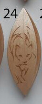 Tatting Shuttle Maple With Engraving #24