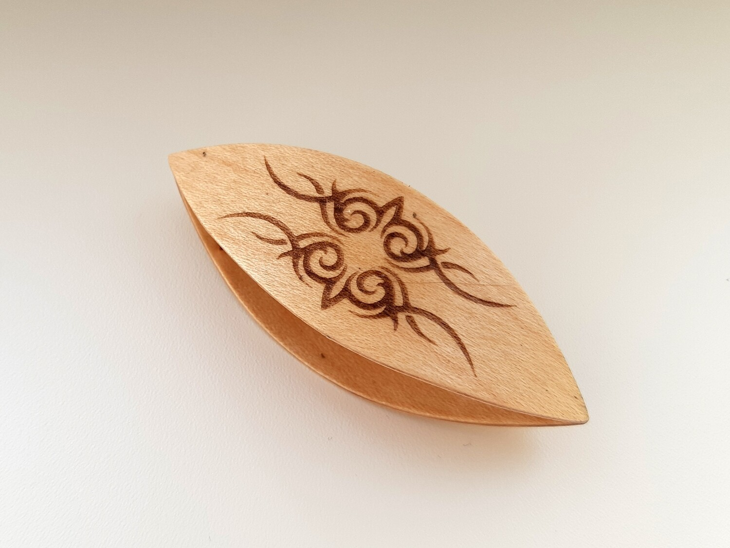 Tatting Shuttle Maple With Engraving #6