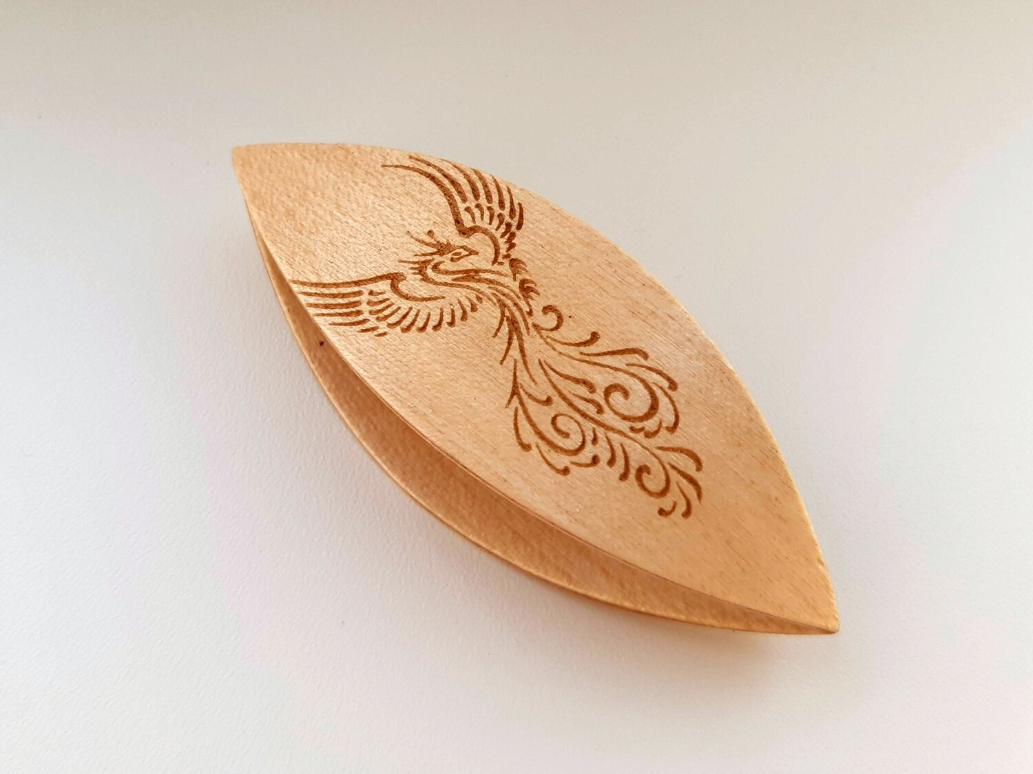 Tatting Shuttle Maple With Engraving #10