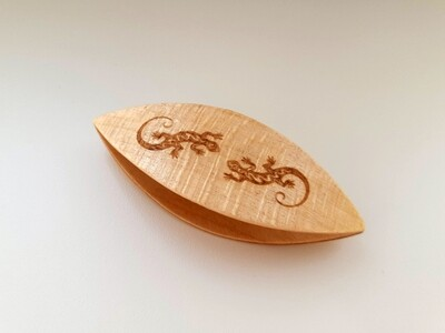 Tatting Shuttle Maple With Engraving #36