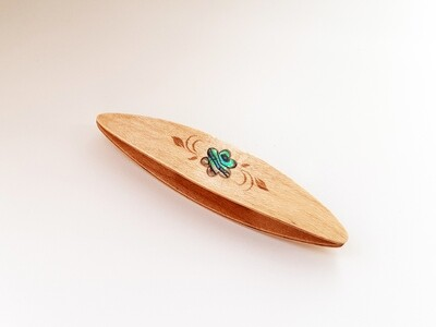Beanile Tatting Shuttle Maple Mother-of-Pearl Inlay Engraving