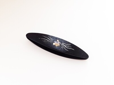 Beanile Tatting Shuttle Black Wood Mother-of-Pearl Inlay Painting