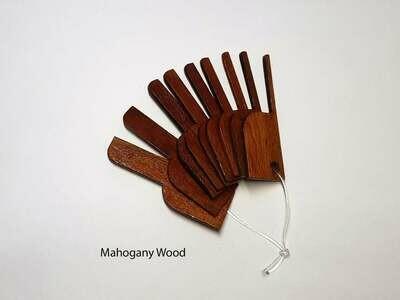 Picot Gauges A Set of 9 pieces 3 mm - 11 mm Mahogany Wood