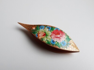 Tatting Shuttle With Pick Maple Painted