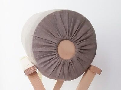 Medium Bolster Bobbin Lace Pillow Wooden Sawdust