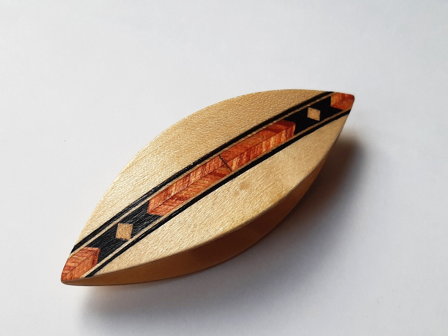 Tatting Shuttle Decorated With Marquetry