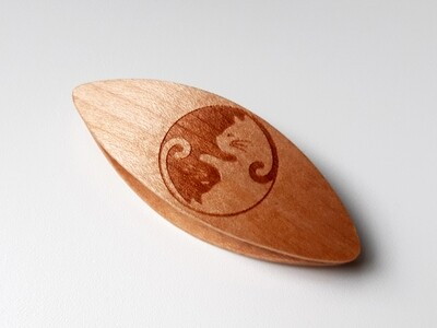 Small Tatting Shuttle Maple With Engraving