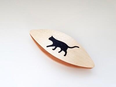 Tatting Shuttle Maple Black Cat Inlay