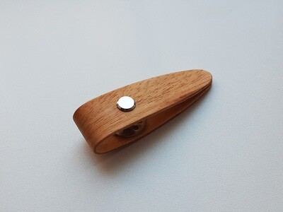 Wooden Hand Made Tatting Shuttle With Bobbin - Marblewood