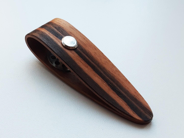 Wooden Hand Made Tatting Shuttle With Bobbin - Macassar