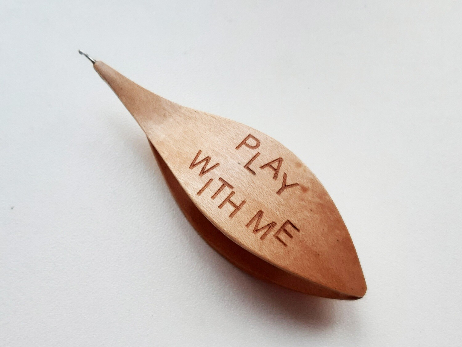 Tatting Shuttle With Hook Maple Play With me Engraved