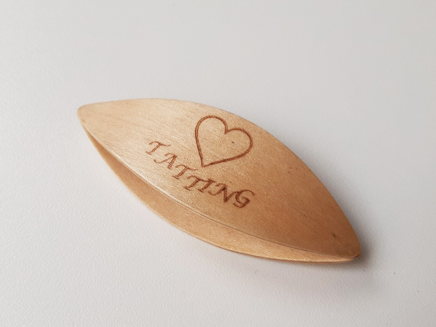 Tatting Shuttle Maple With Engraving #70