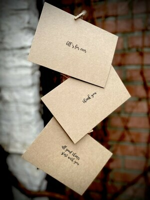 KRAFT quote cards
