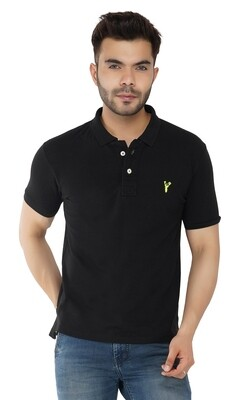 Pro Riders Men's Black Polo
