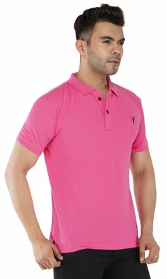 Pro Riders Men's Dark Pink Polo