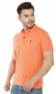 Pro Riders Men's Dark Orange Polo