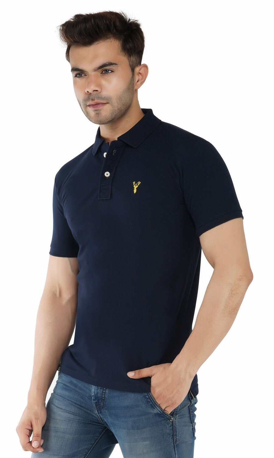 Pro Riders Men's Dark Blue Polo