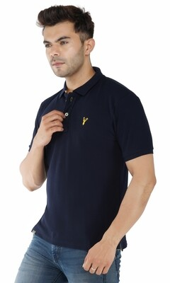 Pro Riders Men's Navy Polo