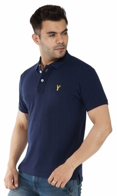 Pro Riders Men's Denim Polo