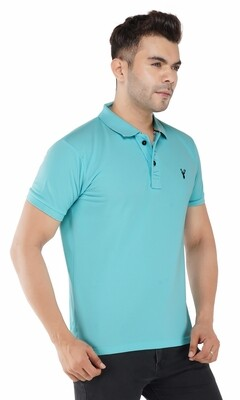 Pro Riders Men's Aqua Polo