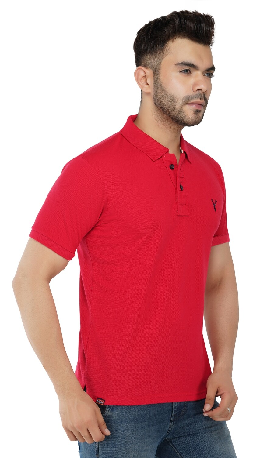 Pro Riders Men's Blood Red Polo