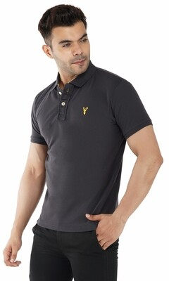 Pro Riders Men's Charcoal Polo