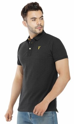 Pro Riders Men's Anthra Gray Polo