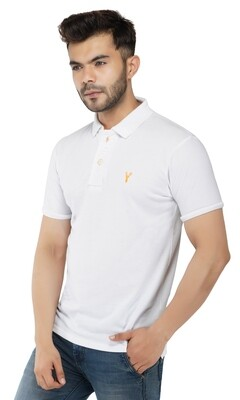 Pro Riders Men's White Polo