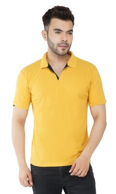 Rundown Collared Mustard T-Shirt