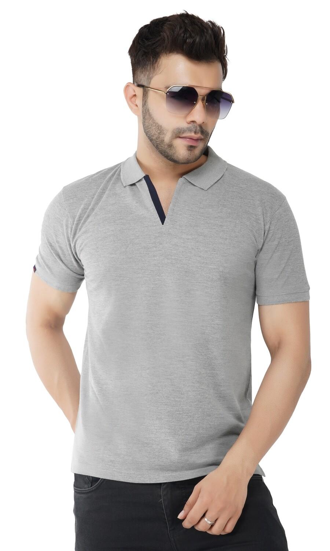 Rundown Collared Dark Gray T-Shirt