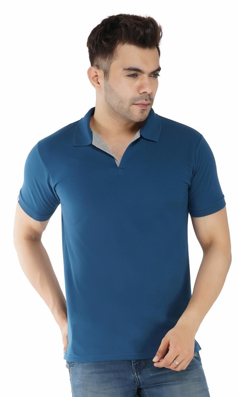 Rundown Collared M Blue T-Shirt