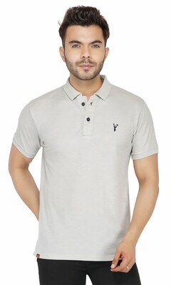 Pro Riders Men's Light Gray Polo