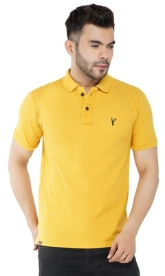 Pro Riders Men's Mustard Polo