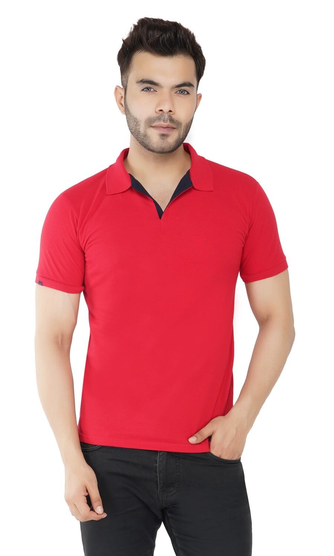 Rundown Collared Red T-Shirt