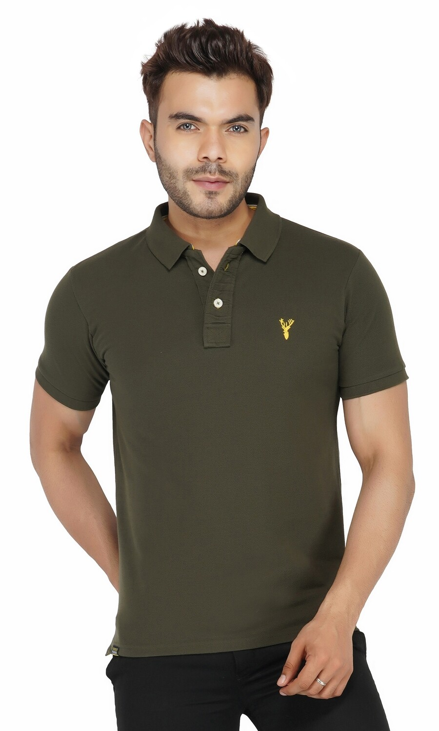 Pro Riders Men's Olive Polo