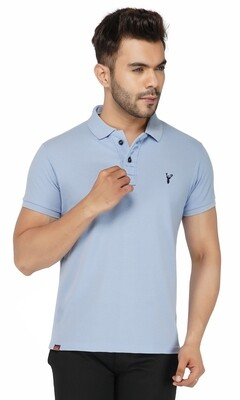 Pro Riders Men's Sky Melange Polo