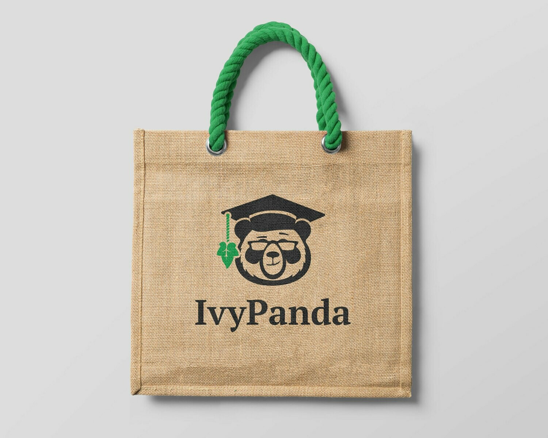 IvyPanda Branded Shopping Bag Brown