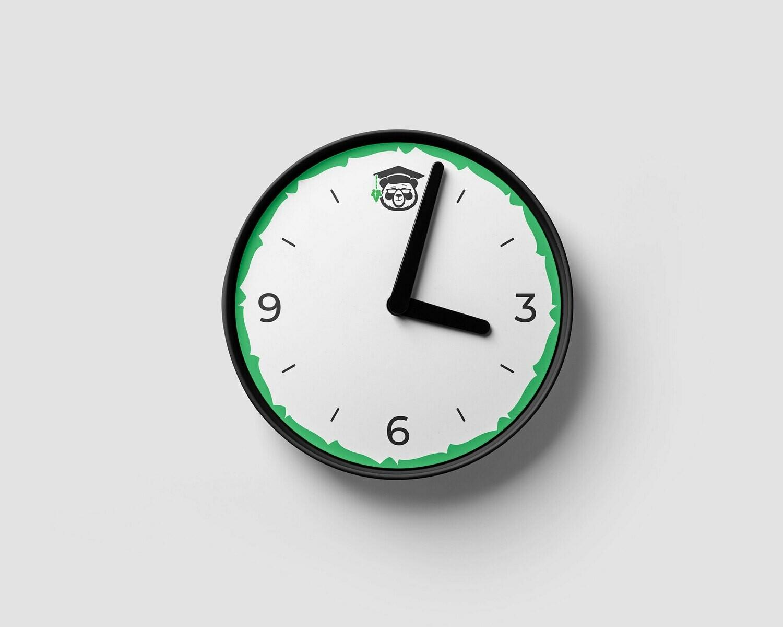 IvyPanda Branded Clock White
