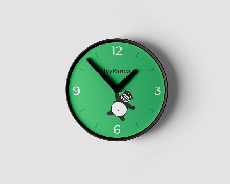 IvyPanda Branded Clock Green
