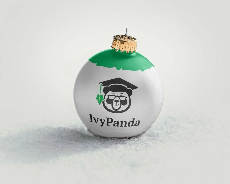 IvyPanda Branded Christmas Ornament Grey