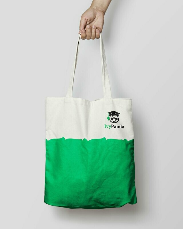 IvyPanda Branded Shopping Bag White/Green