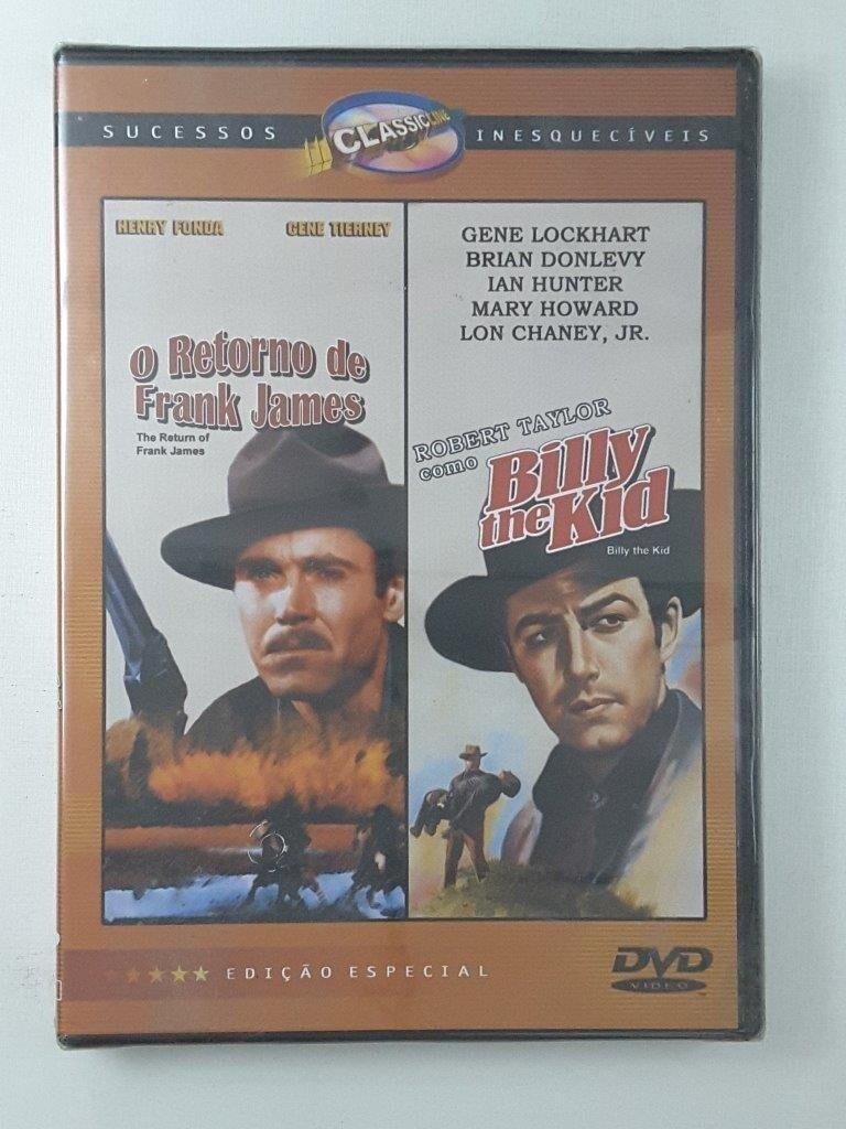O RETORNO DE FRANK JAMES / BILLY THE KID - DVD